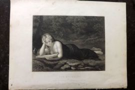 Gems of European Art 1846 Folio Print. The Magdalen, Nudes